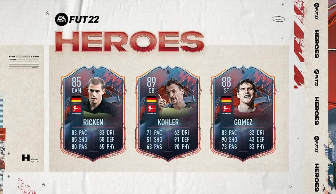 FIFA 22 : Die neuen FUT Heroes und ihre Werte